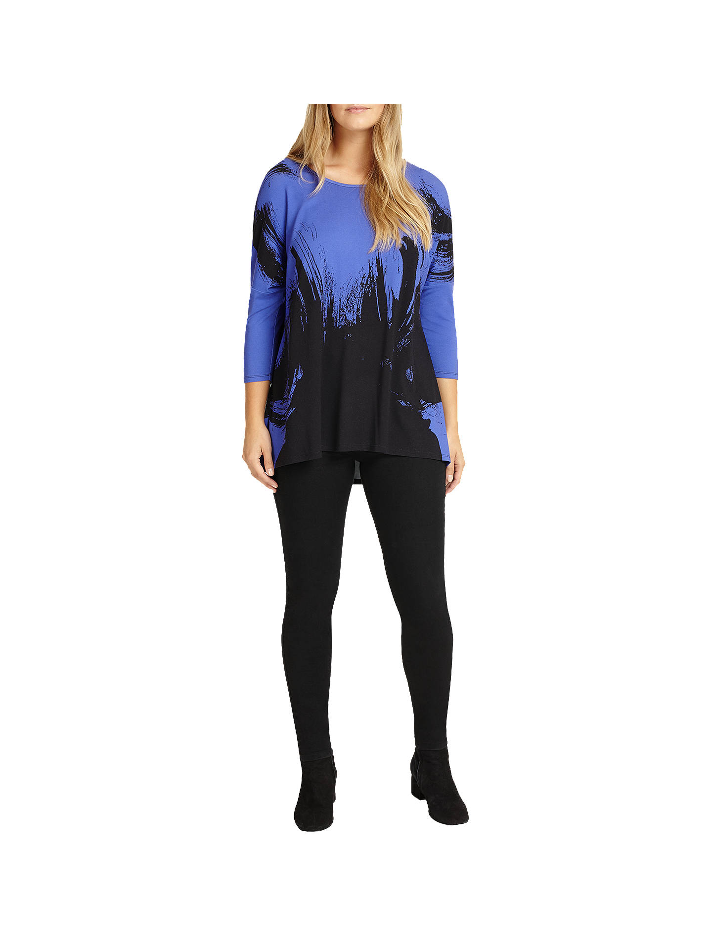 BuyStudio 8 Romy Abstract Top, Blue/Black, 12 Online at johnlewis.com