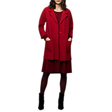 Buy East Boiled Wool Longline Coat, Ginger Online at johnlewis.com