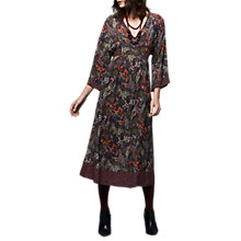 Buy East Siliva Paisley Print Dress, Grape Online at johnlewis.com
