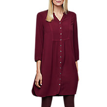 Buy East Distressed Tunic Dress, Grape Online at johnlewis.com