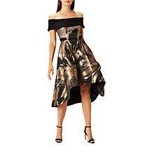 Buy Coast Echo Jacquard Frill Midi Dress Online at johnlewis.com