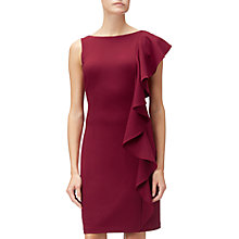 Buy Adrianna Papell Knit Crepe Shoulder Ruffle Dress, Cranberry Online at johnlewis.com