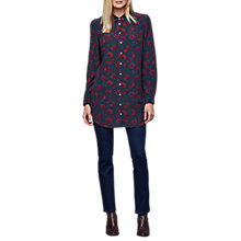 Buy East Silk Alicia Print Shirt, Dark Teal Online at johnlewis.com
