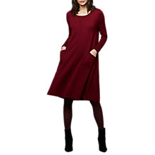 Buy East Merino Swing Dress, Dark Red Online at johnlewis.com