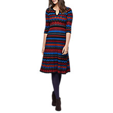 Buy East Merino Wool Zig Zag Dress, Multi Online at johnlewis.com