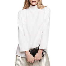 Buy Reiss Hennie Knitted Rib Neck Top Online at johnlewis.com