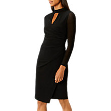 Buy Coast Julia Neck Detail Jersey Dress, Black Online at johnlewis.com