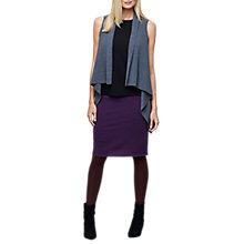 Buy East Merino Wool Waterfall Waistcoat, Ink Online at johnlewis.com