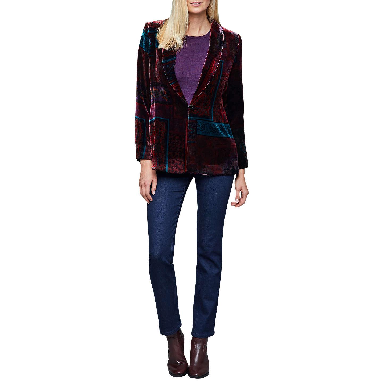 BuyEast Velvet Eva Print Jacket Grape 10