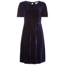 Buy White Stuff Yasmin Velvet Tea Dress, Navy Online at johnlewis.com