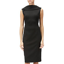 Buy Adrianna Papell Sleeveless Roll Neck Sheath Dress, Black Online at johnlewis.com