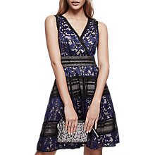 Buy Reiss Tally Lace Detail Dress, Multi Online at johnlewis.com