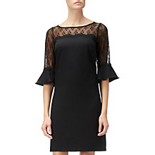 Buy Adrianna Papell Stretch Crepe And Lace Shift Dress, Black Online at johnlewis.com