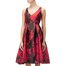 Buy Adrianna Papell Jacquard Fit And Flare Dress, Red/Multi Online at johnlewis.com