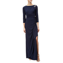 Buy Adrianna Papell Long Matte Jersey Dress, Midnight Online at johnlewis.com