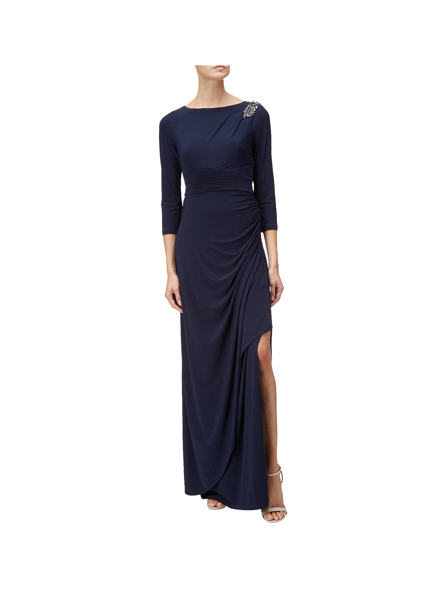 66e10240b4c3 Buy Adrianna Papell Long Matte Jersey Dress, Midnight, 8 Online at  johnlewis.com ...