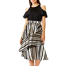 Buy Coast Oriana Striped Skirt, Blush Online at johnlewis.com