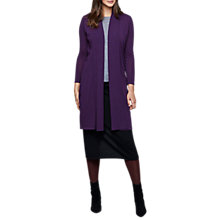 Buy East Merino Wool Longline Shawl Cardigan, Purple Online at johnlewis.com