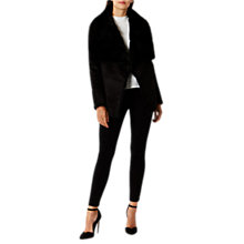 Buy Coast Silva Faux Fur Shearling Jacket, Black Online at johnlewis.com