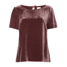 Buy White Stuff Yasmin Velvet Top, Wine Online at johnlewis.com