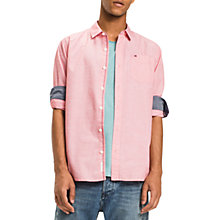 Buy Tommy Jeans Cotton Regular Fit Shirt, Racing Red Online at johnlewis.com