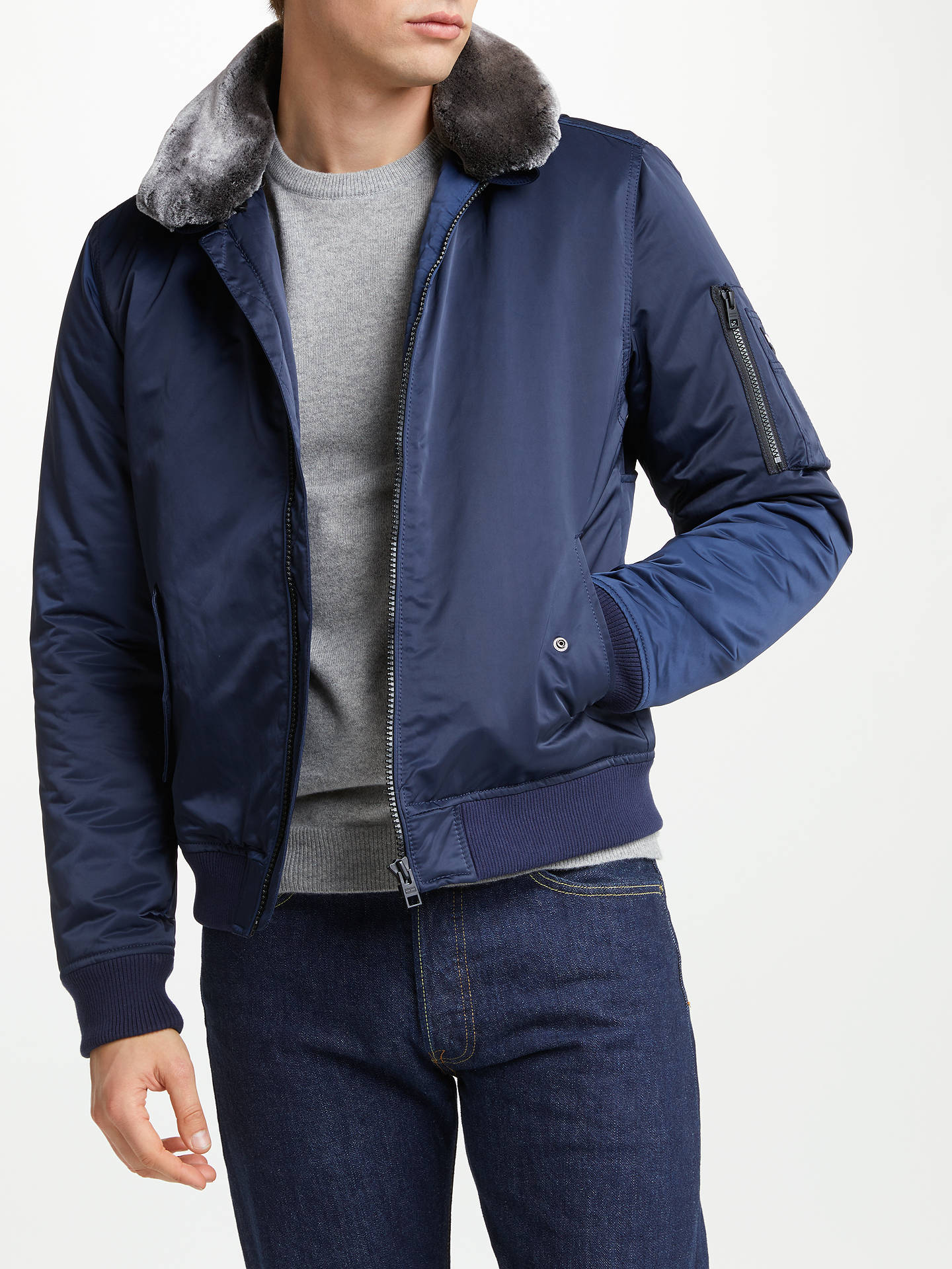 e6eb74aa Buy Tommy Hilfiger Justice Bomber Jacket, Black Iris, S Online at  johnlewis.com ...