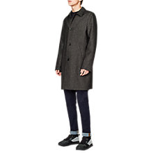 Buy PS Paul Smith Unlined Wool Mac Jacket, Black Online at johnlewis.com