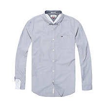 Buy Tommy Jeans Dobby Basic Long Sleeve Spot Shirt Online at johnlewis.com