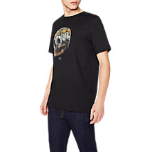 Buy PS by Paul Smith Large Skull Print T-Shirt, Black Online at johnlewis.com