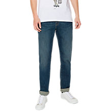 Buy PS by Paul Smith Super Stretch Tapered Jeans, Blue Washed Online at johnlewis.com