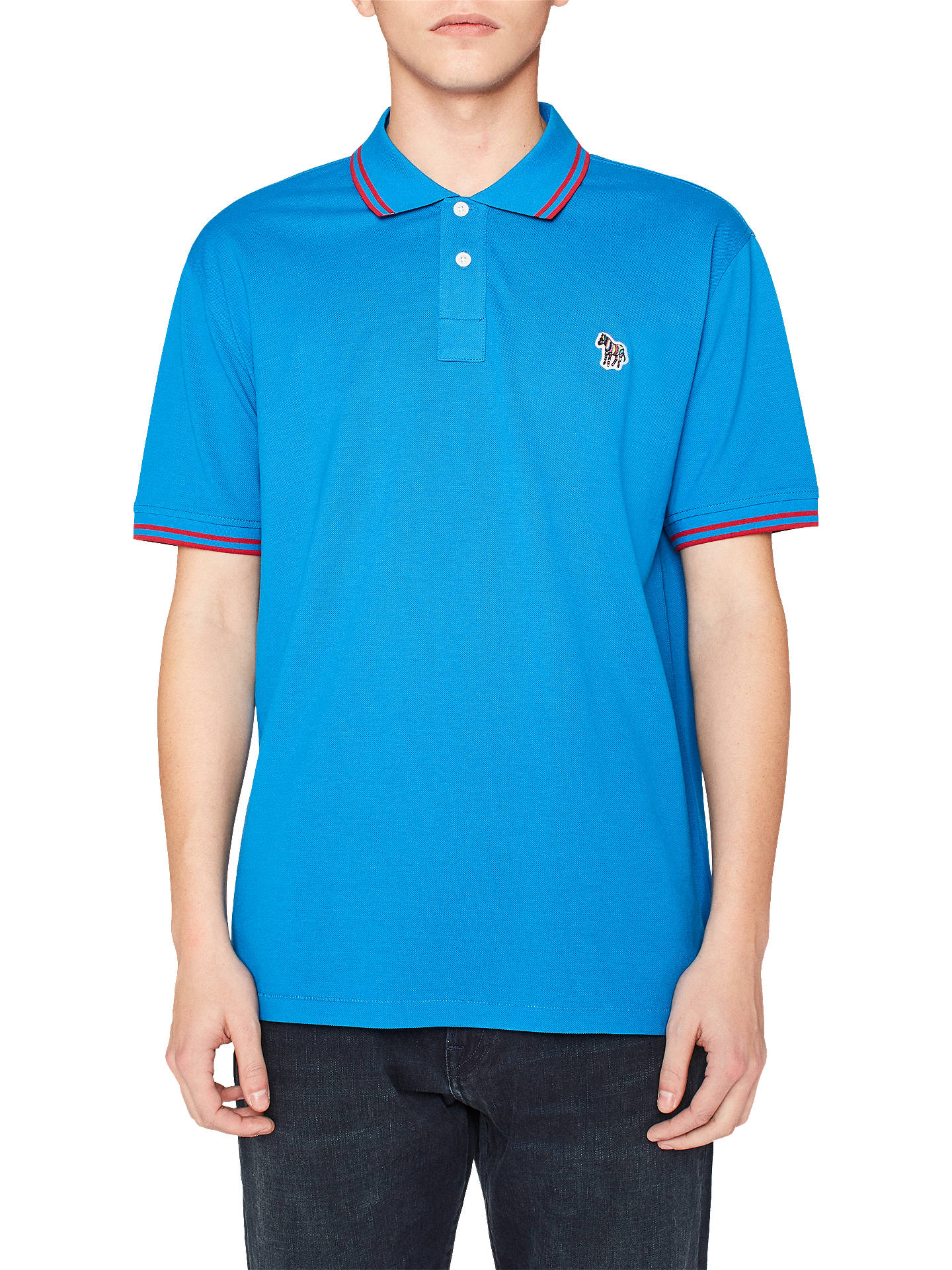 a53da064 Buy PS Paul Smith Twin Tipped Polo Shirt, Blue, S Online at johnlewis.