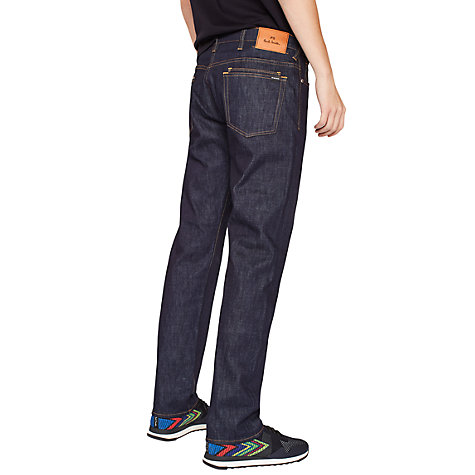 Buy PS Paul Smith Super Soft Cross Hatch Straight Jeans, Dark Navy Rinse Online at johnlewis.com