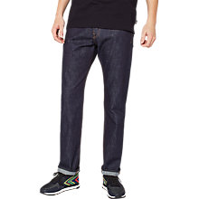 Buy PS by Paul Smith Super Soft Cross Hatch Straight Jeans, Dark Navy Rinse Online at johnlewis.com