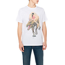 Buy PS Paul Smith Dino Lady Printed T-Shirt, White Online at johnlewis.com