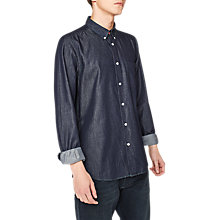 Buy PS by Paul Smith Tailored Denim Long Sleeve Shirt, Rinsed Washed Blue Online at johnlewis.com