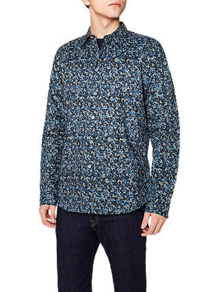 Buy PS Paul Smith Camo Long Sleeve Shirt, Blue Camo, S Online at johnlewis.com