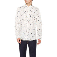 Buy PS Paul Smith Brush Strokes Shirt, White Online at johnlewis.com