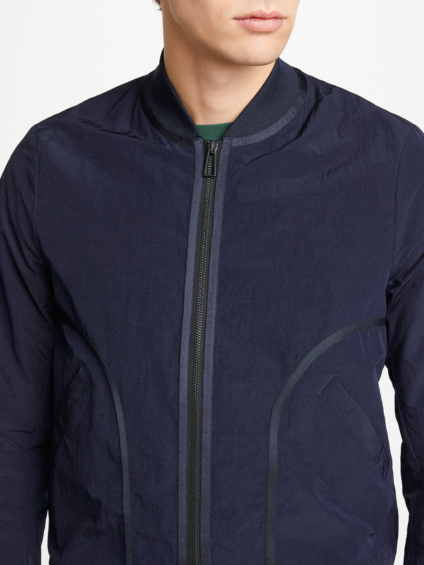 05183f90d PS Paul Smith Ripstop Bomber Jacket, Navy at John Lewis & Partners
