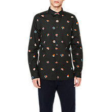 Buy PS Paul Smith Floral Long Sleeve Shirt, Black Online at johnlewis.com