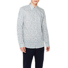 Buy PS Paul Smith Floral Long Sleeve Shirt, White Online at johnlewis.com