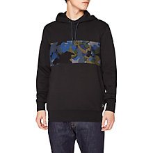 Buy PS by Paul Smith Camo Panel Long Sleeve Hoodie, Black Online at johnlewis.com