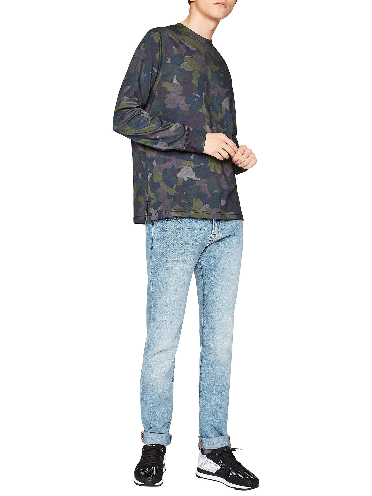 Ps Paul Smith Camo Print Long Sleeve T Shirt Dark Navy At John Tendencies Tshirt Monday To Xxl Buyps S Online