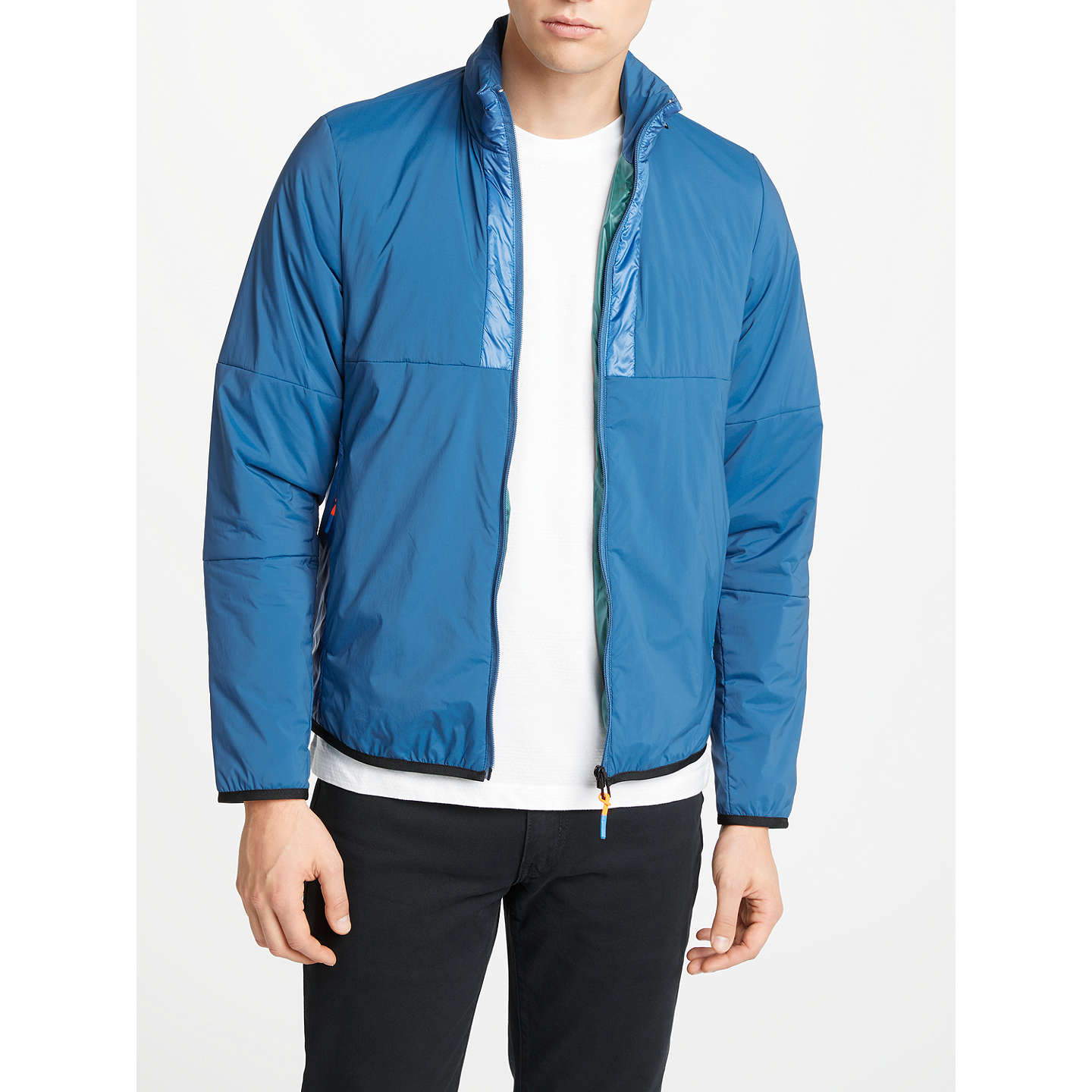 PS Paul Smith Quilted Padded Jacket, Indigo at John Lewis