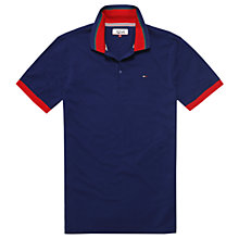 Buy Tommy Jeans Contrast Tip Polo Shirt, Blue Depths Online at johnlewis.com