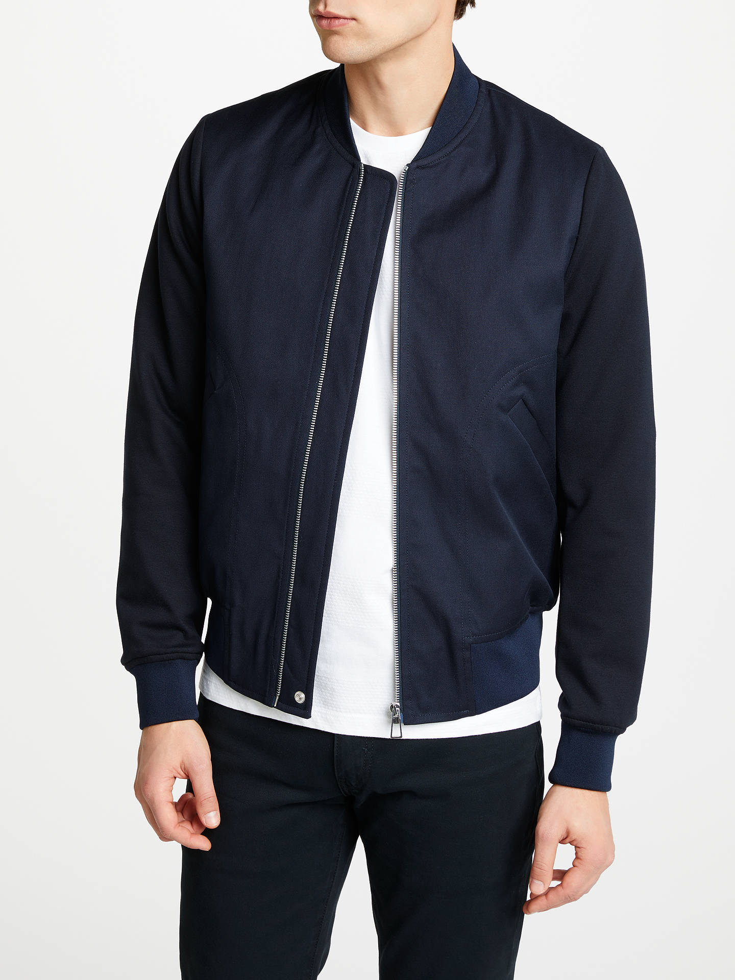 b30ce63b8aa1 Buy PS Paul Smith Tailored Bomber Jacket, Navy, S Online at johnlewis.com  ...