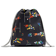 Buy Little Joule Children's Jungle Scrum Print Rubber Drawstring Bag, Navy Online at johnlewis.com