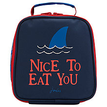 Buy Little Joule Children's Shark Dive Print Munch Lunch Bag, Black Online at johnlewis.com