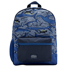 Buy Little Joule Children's Shark Backpack, Blue Online at johnlewis.com