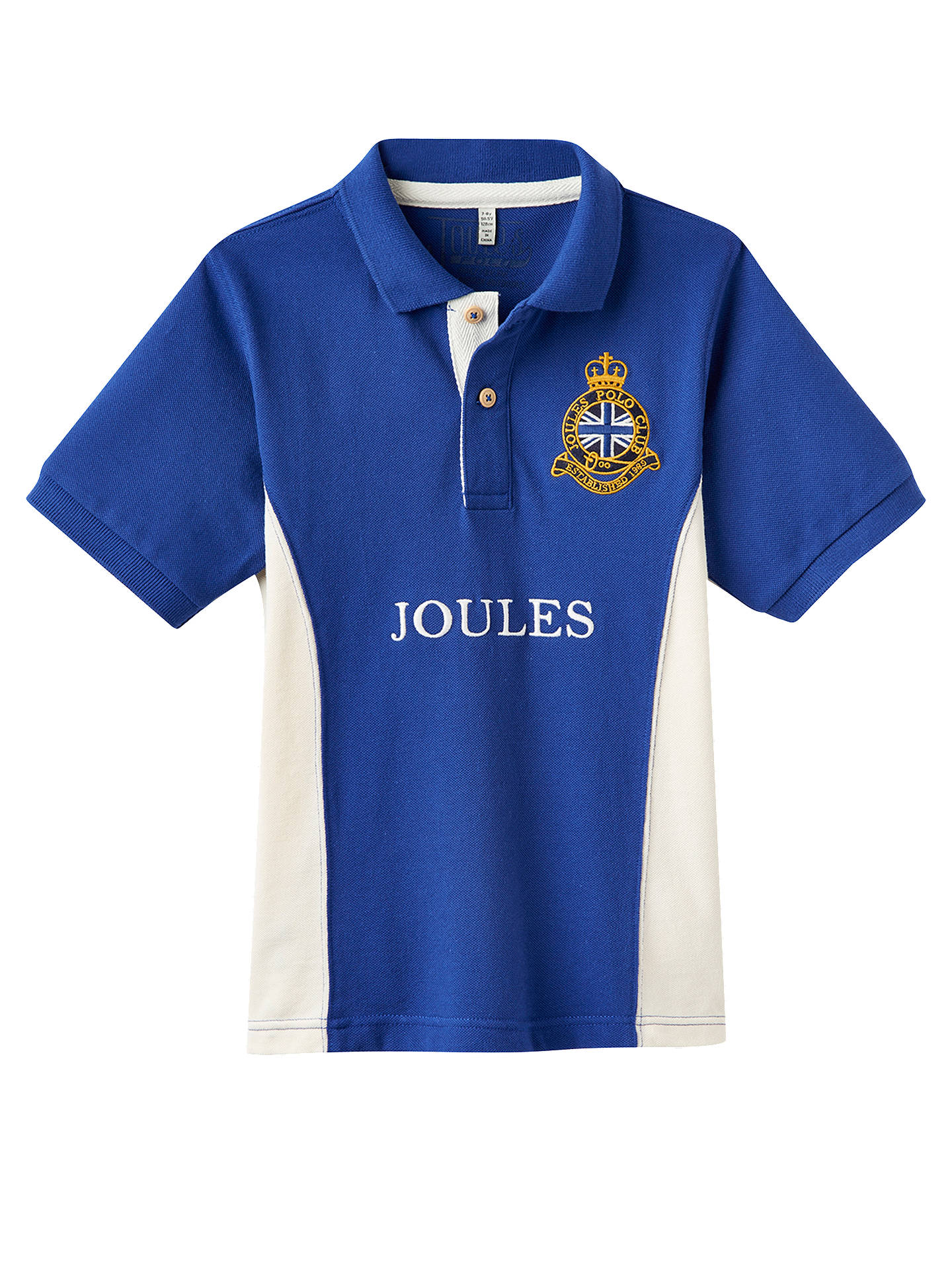 5ccbc964e Buy Little Joule Boys' Harry Polo Shirt, Blue, 3 years Online at johnlewis  ...