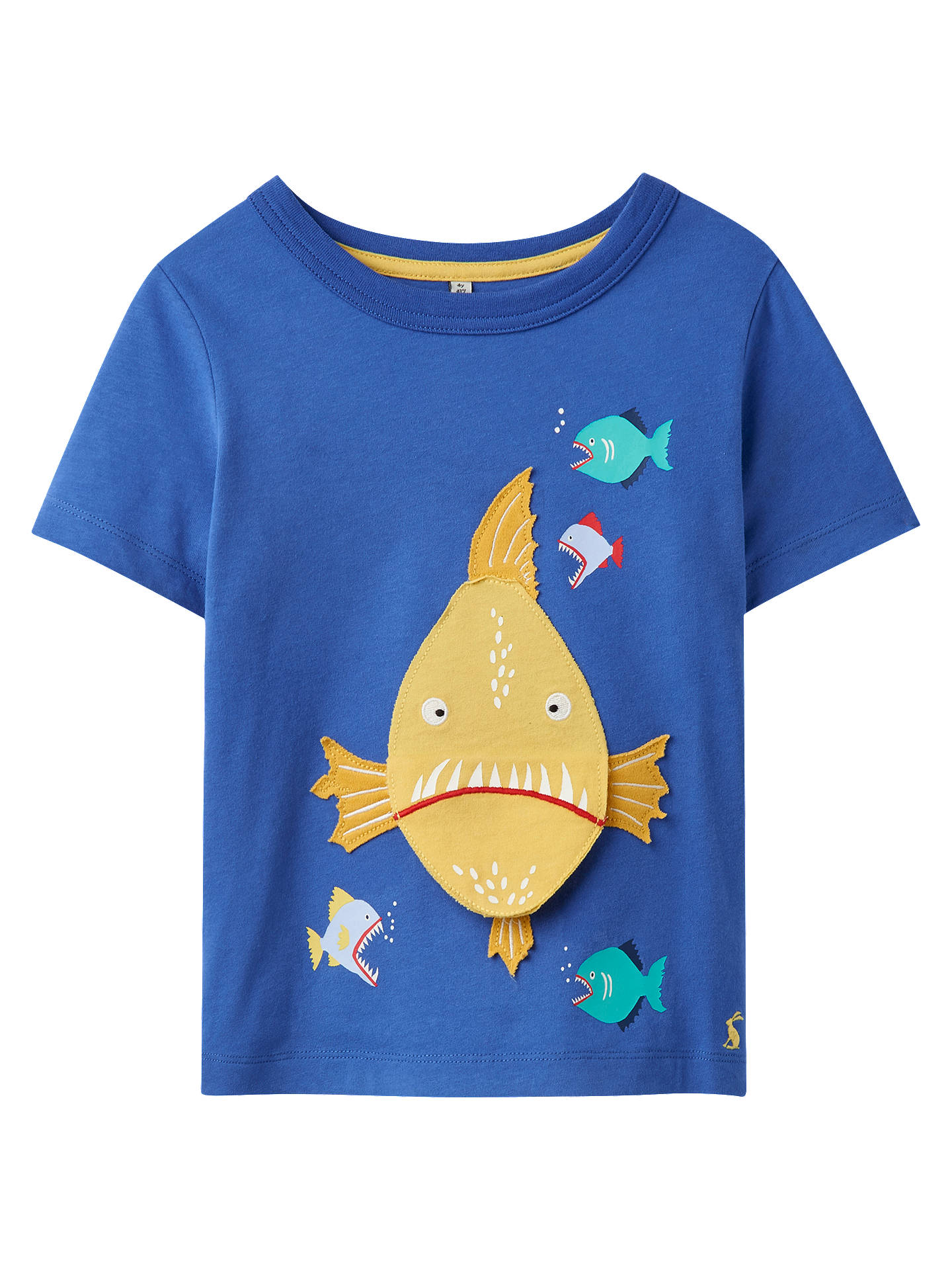Little Joule Boys Chomp Piranha T Shirt Blue At John Lewis Partners